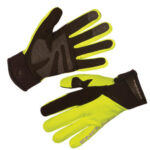 Winter cycling gloves from Endura in black and high viz yellow