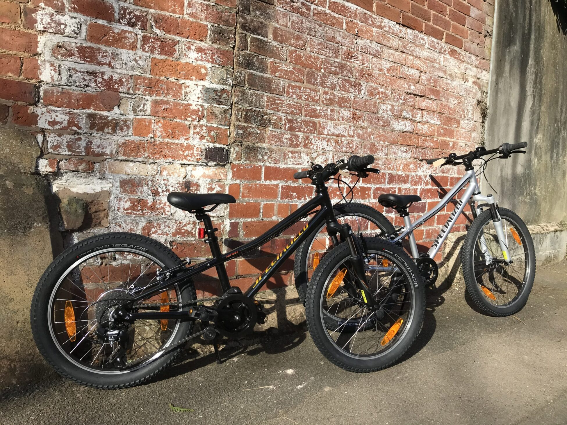 Image of two Kids size specialized HotrocksHotroc